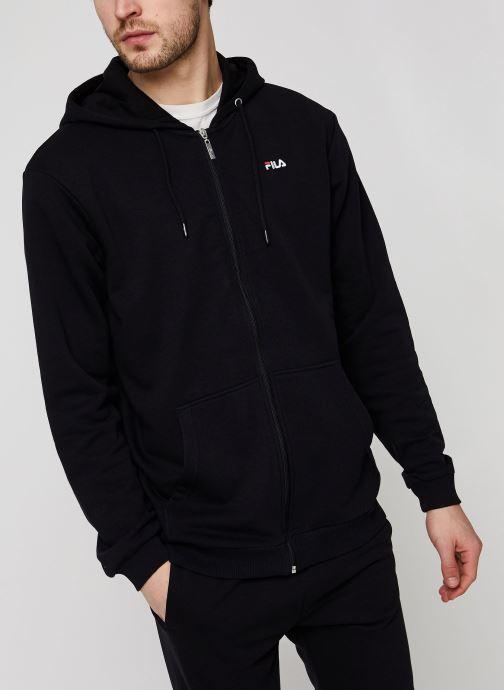 Vêtements FILA Elazer Sweat Jacket Noir vue droite