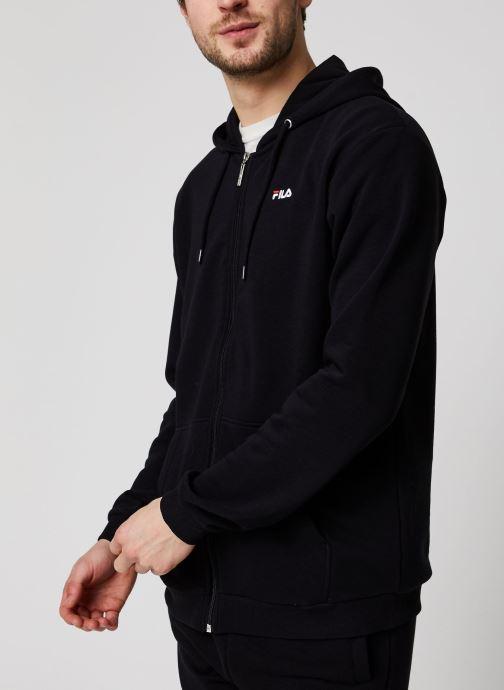 Vêtements FILA Elazer Sweat Jacket Noir vue détail/paire
