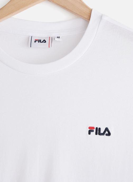 Vêtements FILA Eitan Long Sleeve Shirt Blanc vue portées chaussures