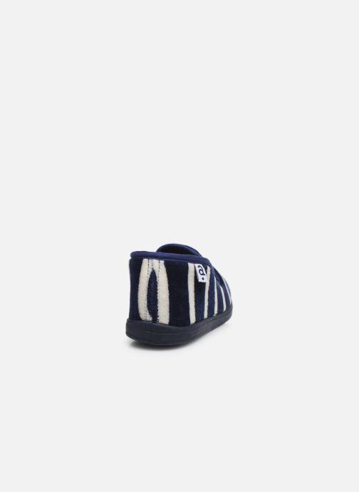 Pantuflas Absorba Ventil Azul vista lateral derecha