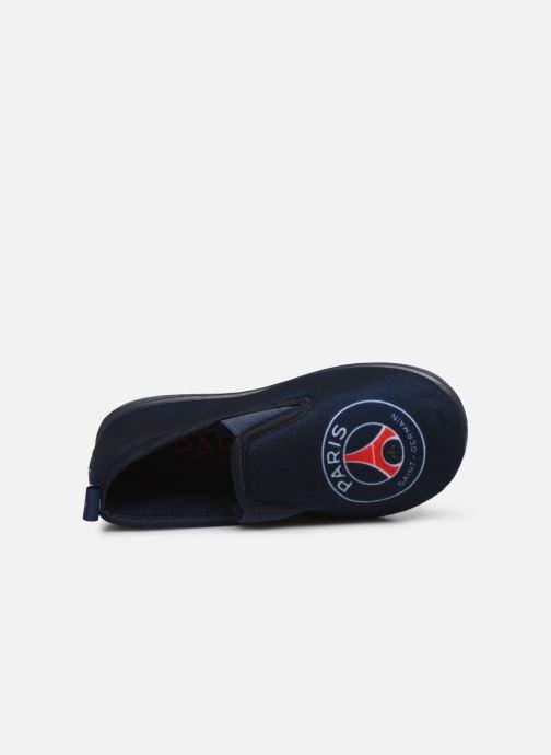 Pantuflas PSG Psg Oxfordcat C Azul vista lateral izquierda