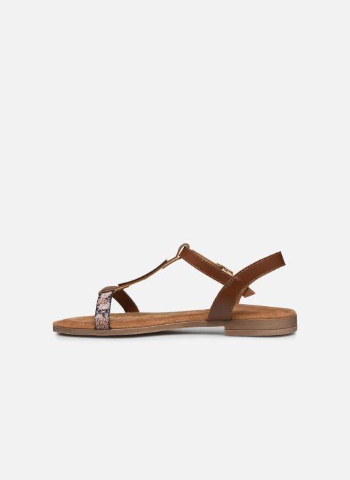 Sandales et nu-pieds Clarks Axelle Ray Marron vue face