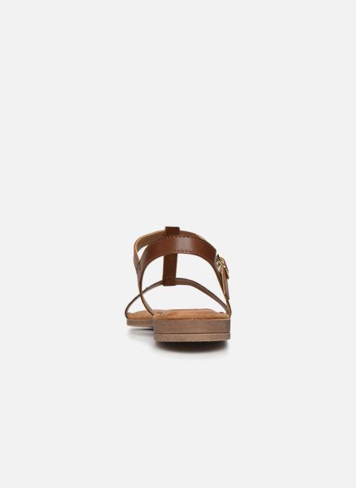 Sandales et nu-pieds Clarks Axelle Ray Marron vue droite