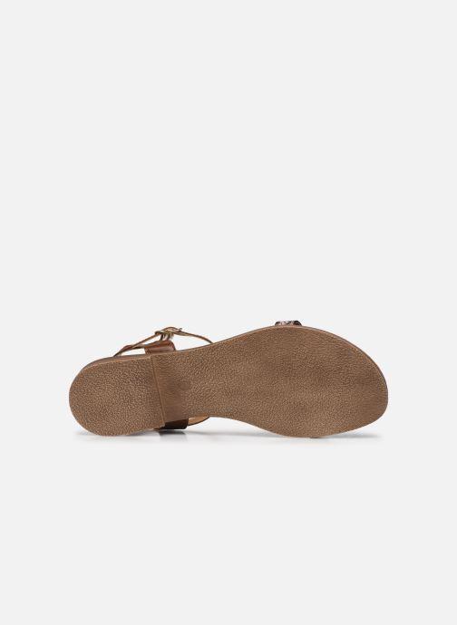 Sandales et nu-pieds Clarks Axelle Ray Marron vue haut