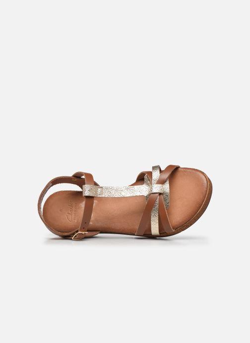 Sandales et nu-pieds Clarks Daniella Ray Marron vue gauche