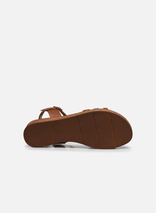 Sandales et nu-pieds Clarks Daniella Ray Marron vue haut
