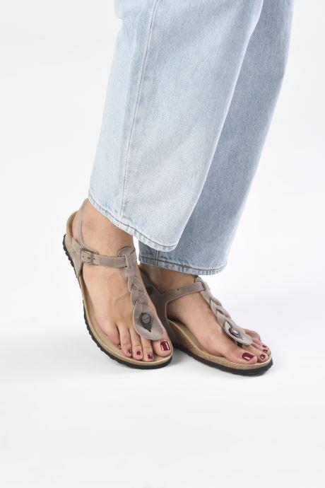 Sandalen Papillio Ashley Braided beige ansicht von unten / tasche getragen