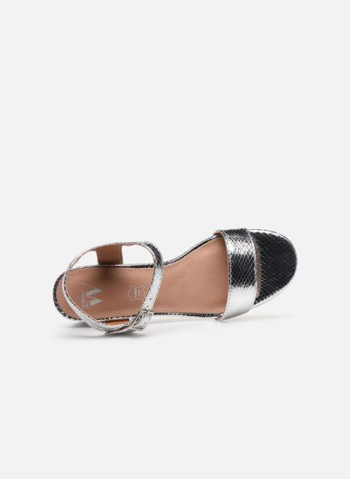 Sandales et nu-pieds Vanessa Wu SD2094 Argent vue gauche