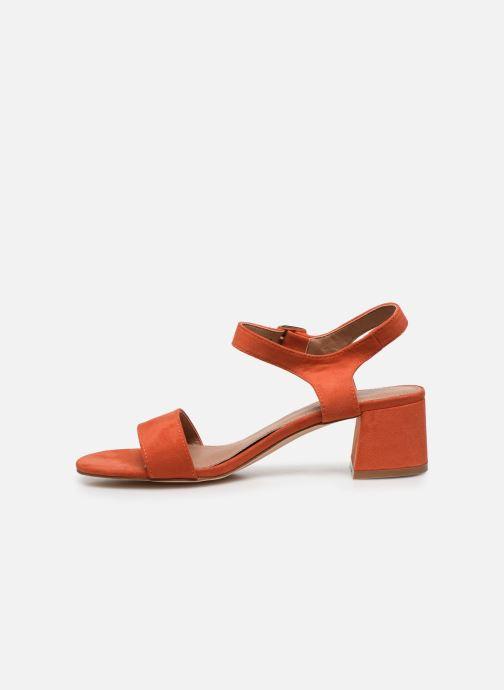 Sandales et nu-pieds Vanessa Wu SD2094 Orange vue face