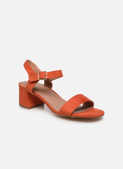 Sandales et nu-pieds Vanessa Wu SD2094 Orange vue détail/paire
