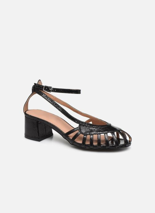 Sandals Vanessa Wu SD2088 Black detailed view/ Pair view