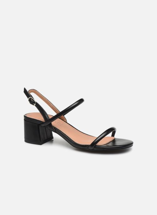 Sandals Vanessa Wu SD2102 Black detailed view/ Pair view