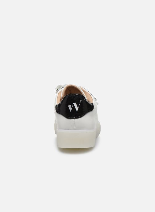 Baskets Vanessa Wu BK2133-1 Blanc vue droite
