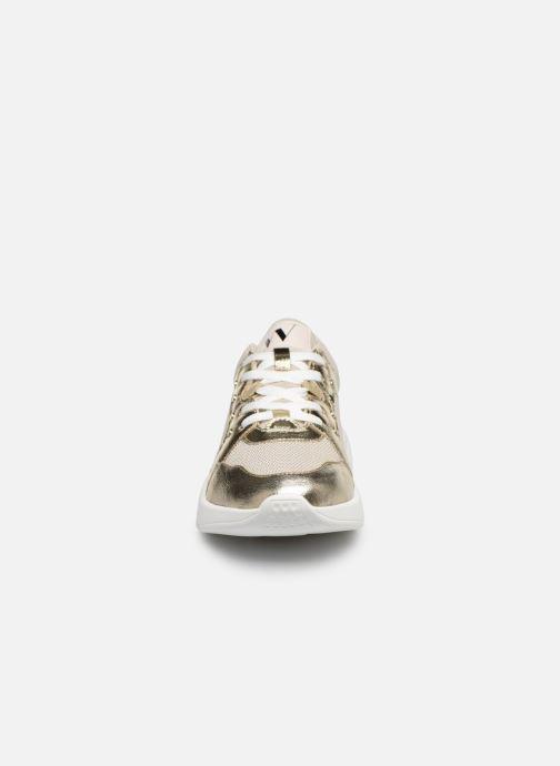 Baskets Vanessa Wu BK2076 Or et bronze vue portées chaussures