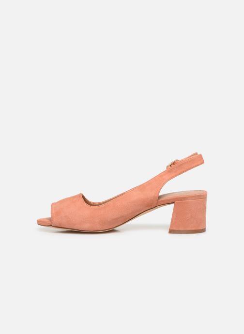 Zapatos de tacón Vanessa Wu SD2114 Naranja vista de frente