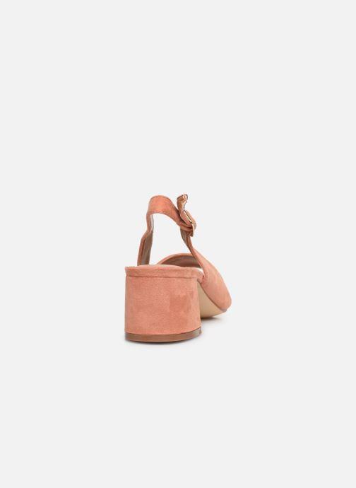 Zapatos de tacón Vanessa Wu SD2114 Naranja vista lateral derecha