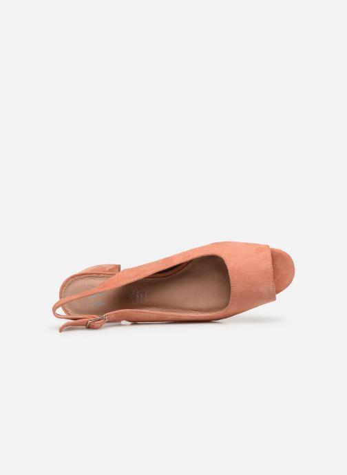 Zapatos de tacón Vanessa Wu SD2114 Naranja vista lateral izquierda