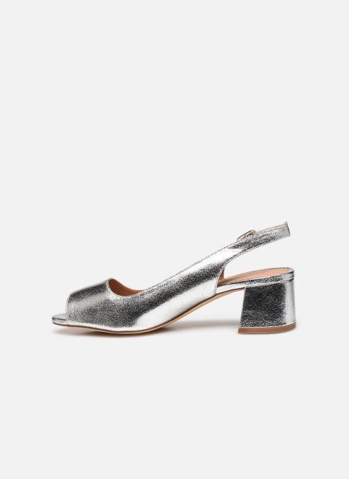 Zapatos de tacón Vanessa Wu SD2114 Plateado vista de frente