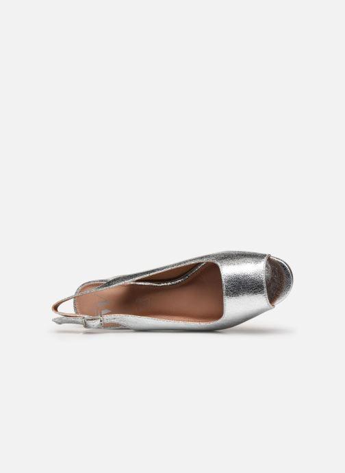 Zapatos de tacón Vanessa Wu SD2114 Plateado vista lateral izquierda