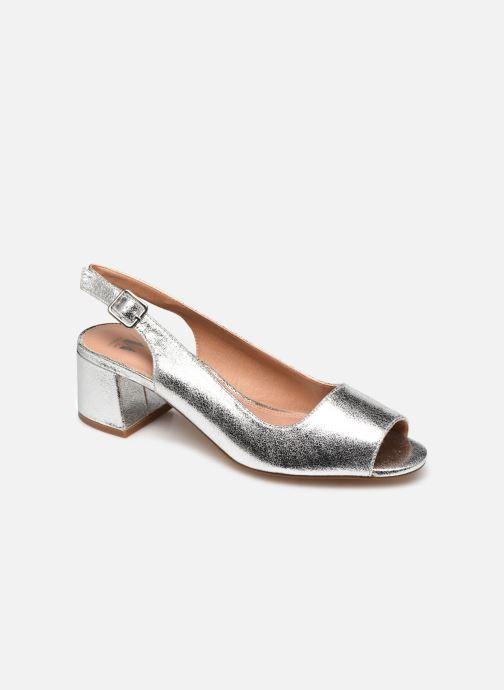 Zapatos de tacón Vanessa Wu SD2114 Plateado vista de detalle / par