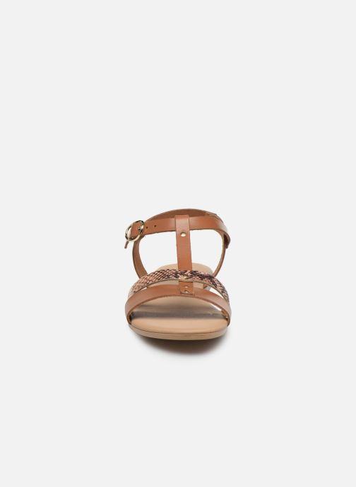 Sandales et nu-pieds Georgia Rose Diloupa Marron vue portées chaussures