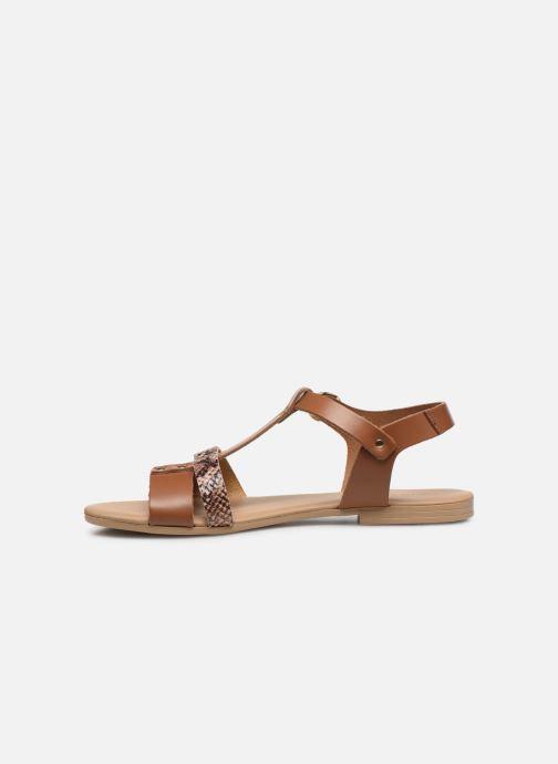 Sandales et nu-pieds Georgia Rose Diloupa Marron vue face