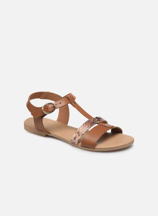 Sandales et nu-pieds Georgia Rose Diloupa Marron vue détail/paire