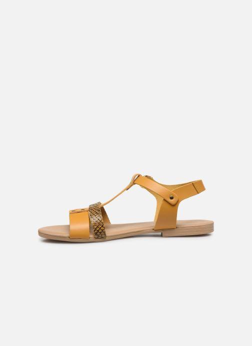 Sandales et nu-pieds Georgia Rose Diloupa Jaune vue face