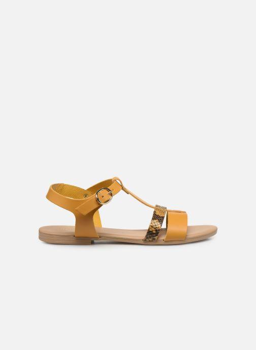Sandales et nu-pieds Georgia Rose Diloupa Jaune vue derrière