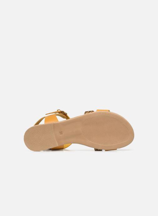 Sandales et nu-pieds Georgia Rose Diloupa Jaune vue haut