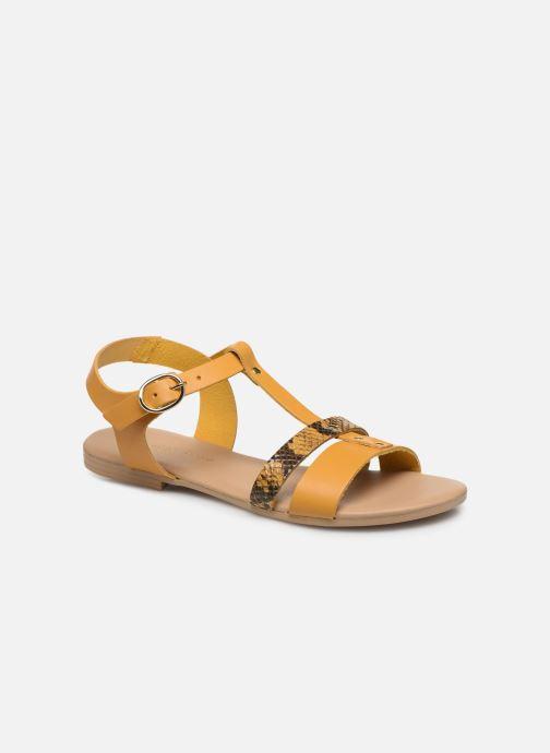 Sandales et nu-pieds Georgia Rose Diloupa Jaune vue détail/paire