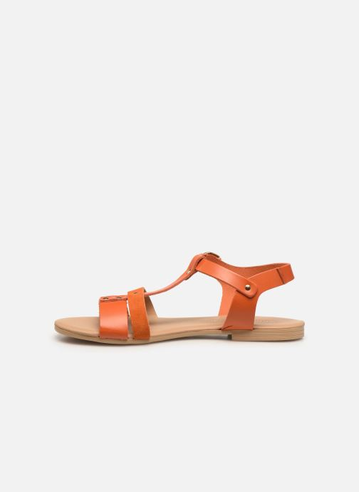Sandales et nu-pieds Georgia Rose Diloupa Orange vue face