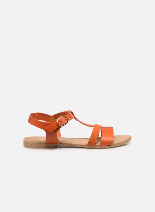 Sandales et nu-pieds Georgia Rose Diloupa Orange vue derrière