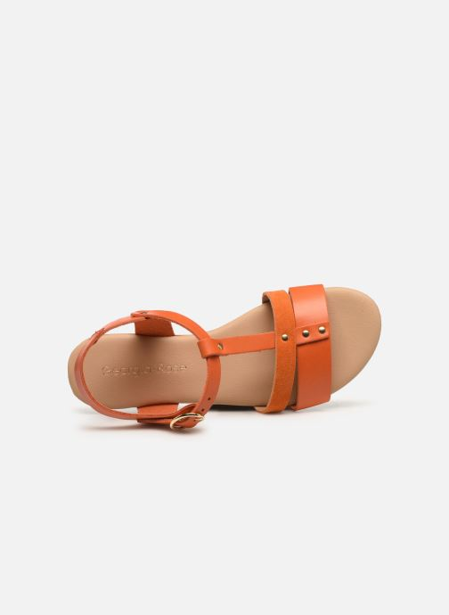 Sandales et nu-pieds Georgia Rose Diloupa Orange vue gauche
