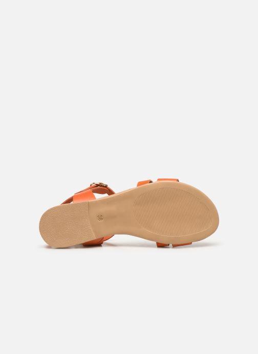 Sandales et nu-pieds Georgia Rose Diloupa Orange vue haut
