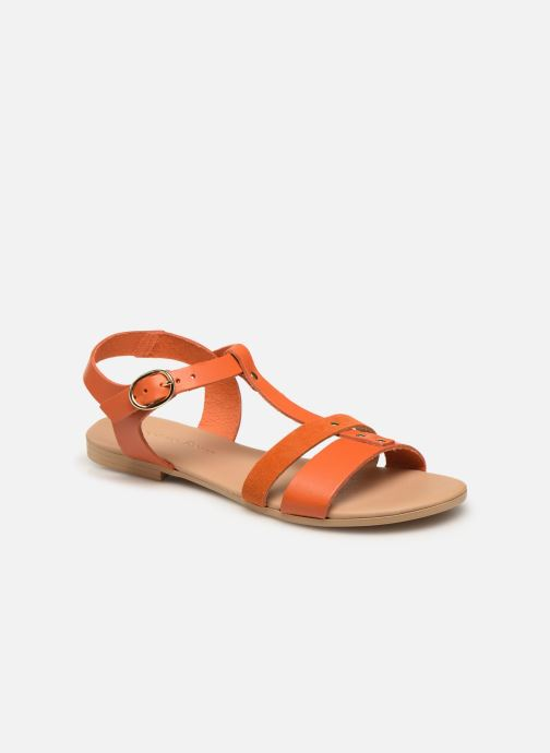 Sandales et nu-pieds Georgia Rose Diloupa Orange vue détail/paire