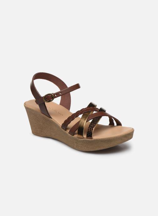 Sandales et nu-pieds Georgia Rose Dopila Or et bronze vue détail/paire