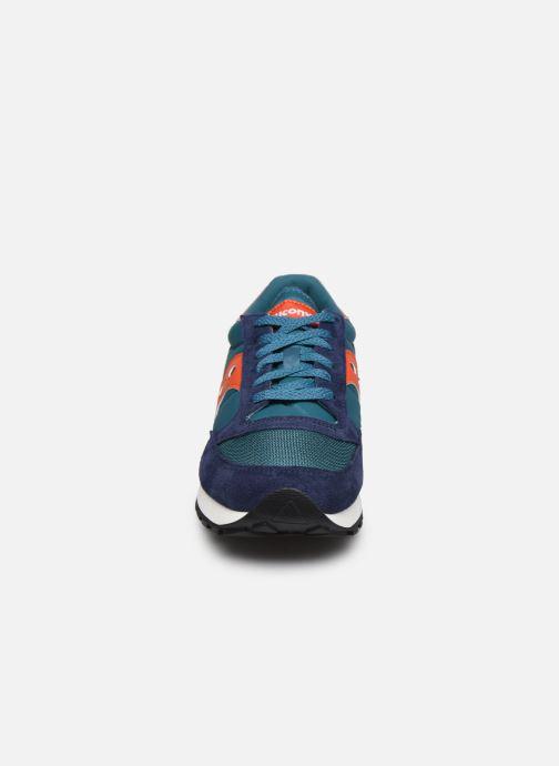 Sneaker Saucony Jazz Vintage blau schuhe getragen