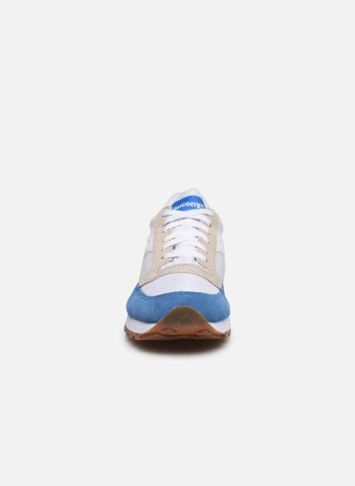 Baskets Saucony Jazz Vintage Bleu vue portées chaussures