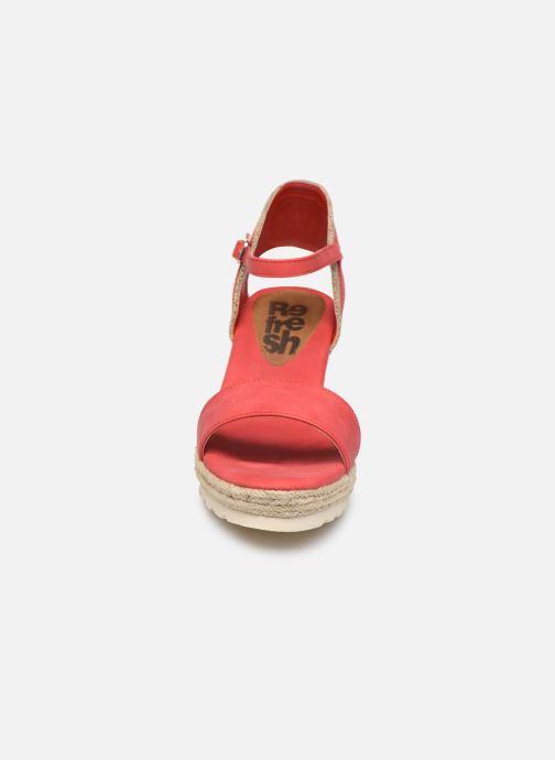 Espadrilles Refresh 69717 Rouge vue portées chaussures
