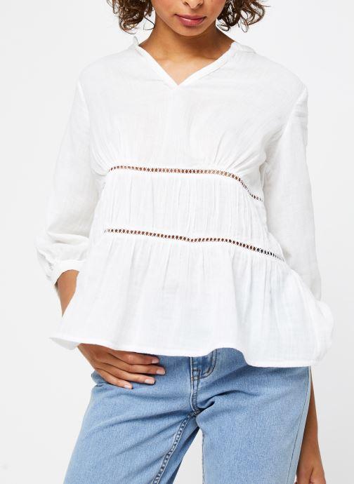 Vêtements Vila Tops Vimadelina Blanc vue droite