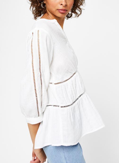 Vêtements Vila Tops Vimadelina Blanc vue détail/paire