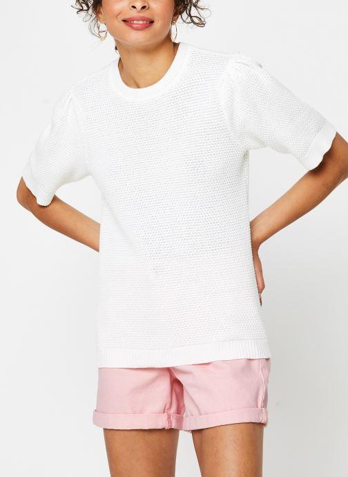 Vêtements Vila Knit Vichassa Blanc vue droite