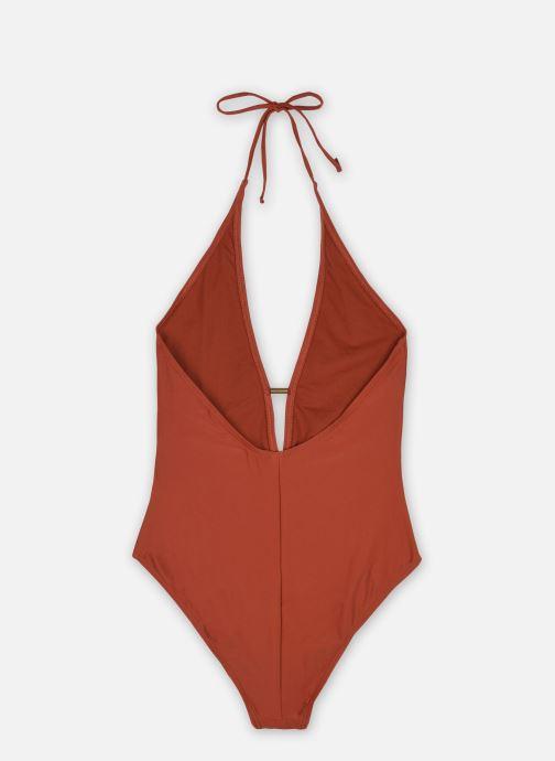 Vêtements Pieces Swimwear Pcnaba Swimsuit Sww Marron vue portées chaussures
