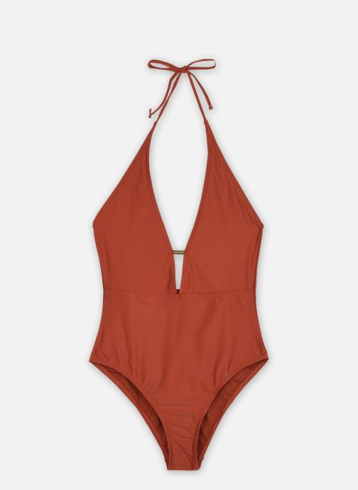 Vêtements Pieces Swimwear Pcnaba Swimsuit Sww Marron vue détail/paire