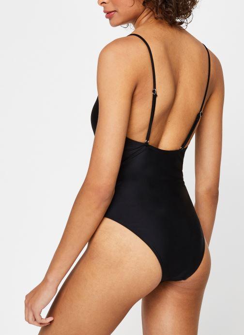 Vêtements Pieces Swimwear Pcnaomi Swimsuit Sww Noir vue portées chaussures