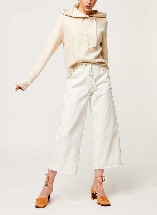 Vêtements Vero Moda Vmloungenew Hood Blouse Blanc vue bas / vue portée sac
