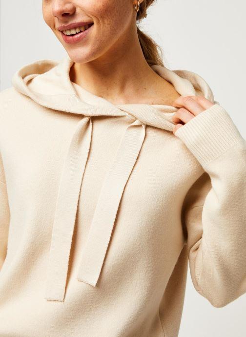 Vêtements Vero Moda Vmloungenew Hood Blouse Blanc vue face