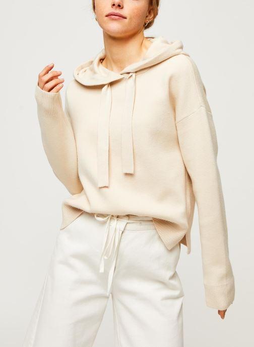 Vêtements Vero Moda Vmloungenew Hood Blouse Blanc vue droite