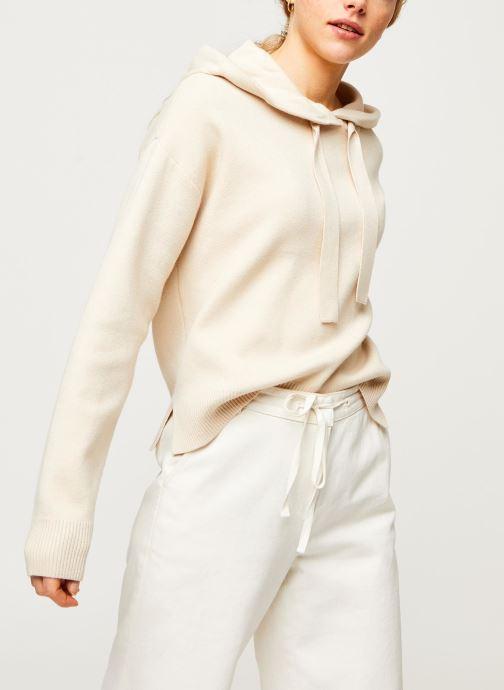 Vêtements Vero Moda Vmloungenew Hood Blouse Blanc vue détail/paire